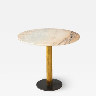 Italian 1970s Marble and Brass Caf Table
