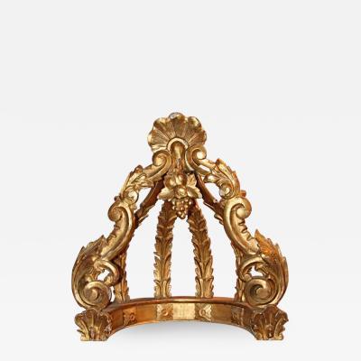 Italian 19th C Gold Leaf Crown