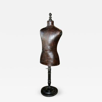 Italian 19th C Leather Dress Model