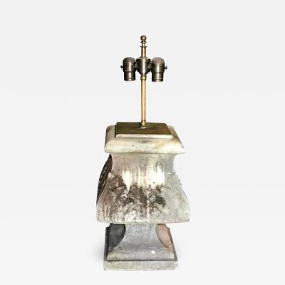 Italian 19th C Stone Architectural Table Lamp