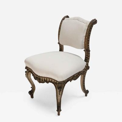 Italian 19th Century Carved Wood Petite Chair