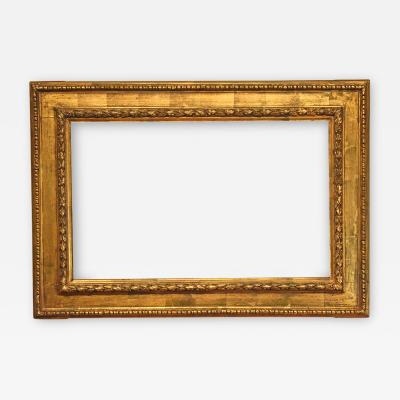 Italian 19th Century Casseta Picture Frame with Egg And Dart Border