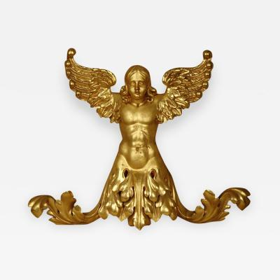 Italian 19th Century Gilded Angel