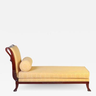 Italian 19th Century Mahogany Swan Neck Sofa or Chais Longues Tuscany 1820