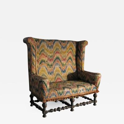 Italian 19th century Baroque Style Settee