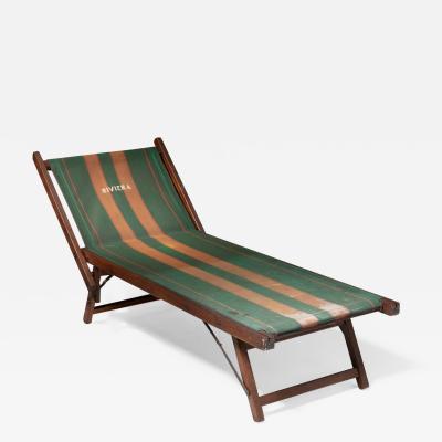 Italian 50s Folding Deckchair