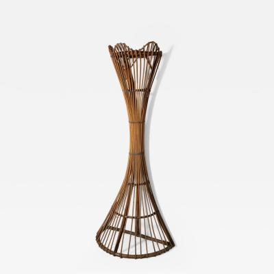 Italian 60s WIcker Coat Stand