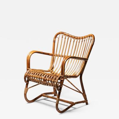 Italian 60s Wicker Armchair
