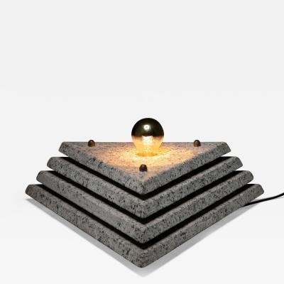 Italian 70s One Off Granite Table Lamp