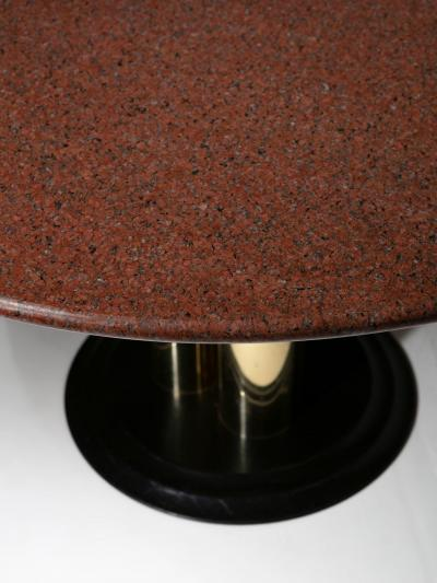 Italian 70s Red Marble Dining Table