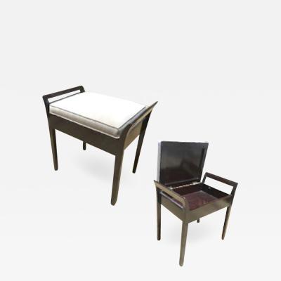 Italian Art Deco Charming Bench with a Folding Hidden Chest