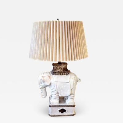 Italian Art Deco Elaphant Lamp