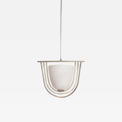Italian Art Deco Pulegoso Murano Glass Chandelier