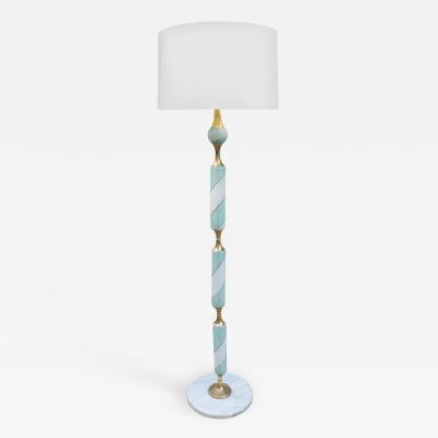 Italian Art Glass Floor Lamp