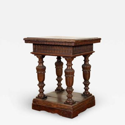 Italian Baroque 17th Century and later Walnut Small Square Table