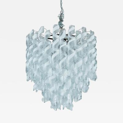 Italian Bellissima Snow White Glass Swirl Chandelier