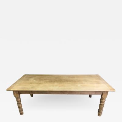 Italian Bleached Cherry Farmhouse Table