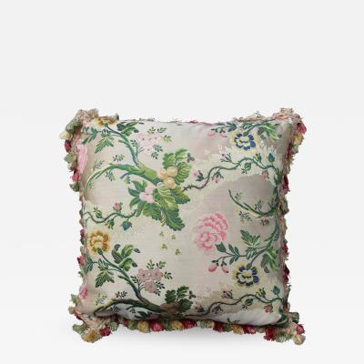 Italian Botanical Silk Velvet Scalamandre Pillow