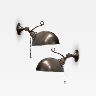 Italian Brass Dome Wall Lights