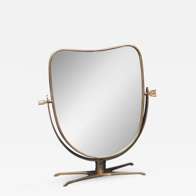 Italian Brass Vanity or Table Mirror