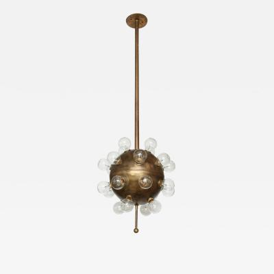 Italian Bronze Sputnik Chandelier 1 of 2
