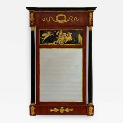 Italian Carved Painted Gilt Mirror Circa 1810