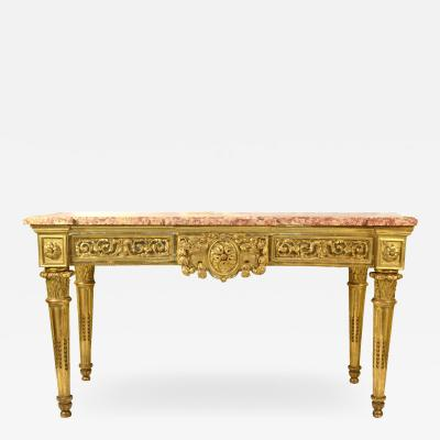 Italian Carved and Giltwood Neoclassical Console Table c 1790
