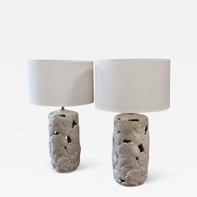 Italian Ceramic Lamps 1960s from Vivai del Sud