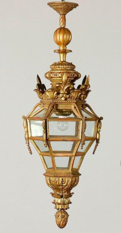 Italian Giltwood hall lantern