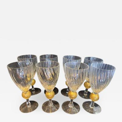 Italian Glass Tumblers Set of 8