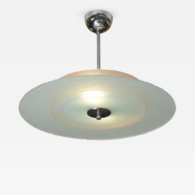 Italian Glass and Chrome Fixture