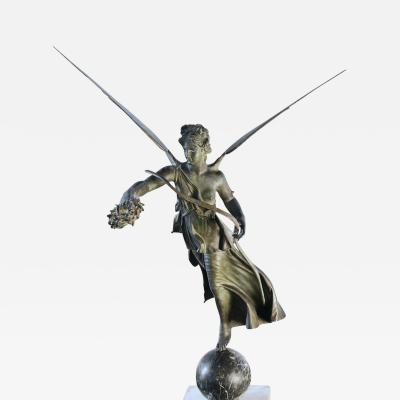 Italian Grand Tour Bronze Figure of Nike or Winged Victory
