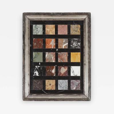 Italian Grand Tour Pietra Dura Specimen Marbles Framed Plaque
