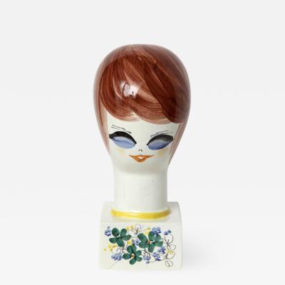 Italian Hand Painted Porcelain Bust