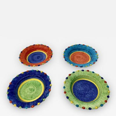Italian Hand Painted Soup Dishes Set of 12