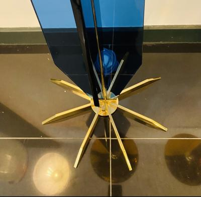Italian Handblown Tall Glass Floor Lamps