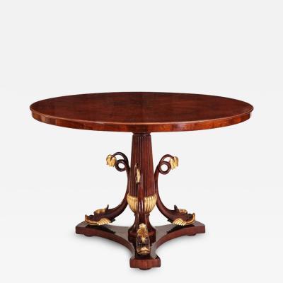 Italian Mahogany and Parcel Gilt Centre Table 1830