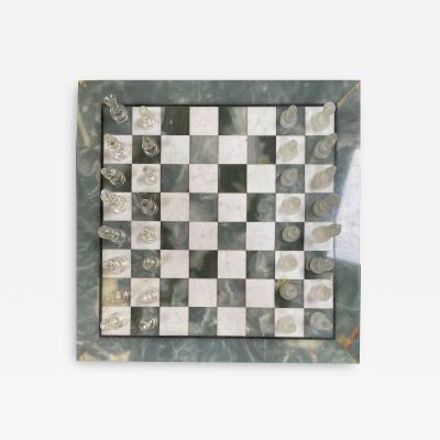 Italian Marble Chess Board Early 20th Century