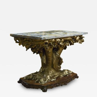 Italian Marble and Gilt Console Table