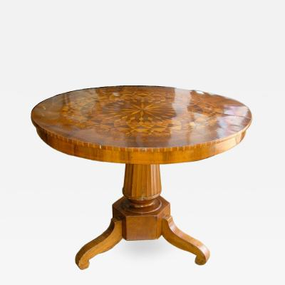 Italian Marquetry Center Table 19th c