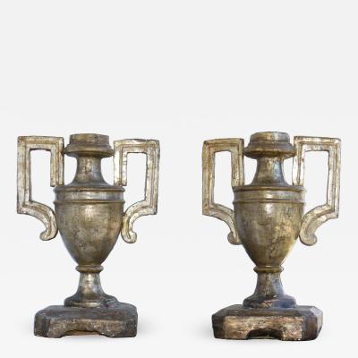 Italian Mecca Giltwood Urns Circa 1760