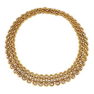Italian Mid 20th Century Diamond and Gold Necklace