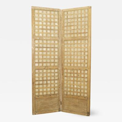Italian Mid Century 2 Panel Screen