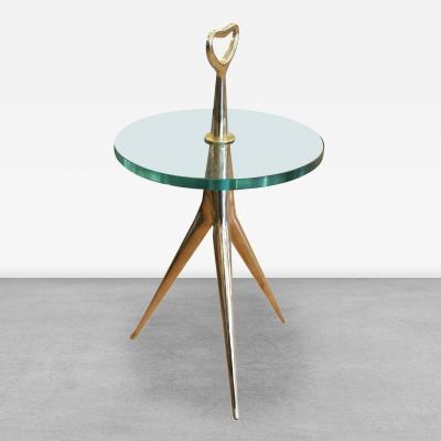 Italian Mid Century Bronze Side Table or Gueridon