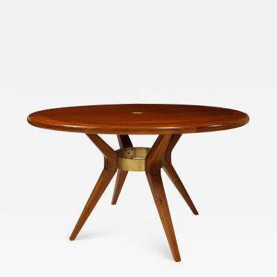 Italian Mid Century Modern Circular Dining Table Center Table