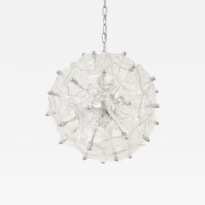 Italian Mid Century Murano Glass Disk Chandelier