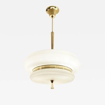 Italian Mid Century Pendant with Brass Details