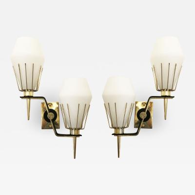 Italian Mid Century Wall Lights Attributed to Arredoluce