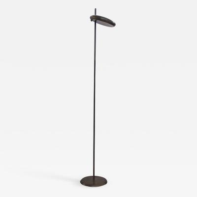 Italian Mid century Geometric Floor Lamp with Disc Diffuser from the 1950s