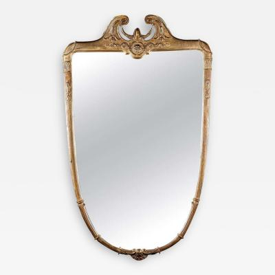 Italian Midcentury Giltwood Mirror 1950